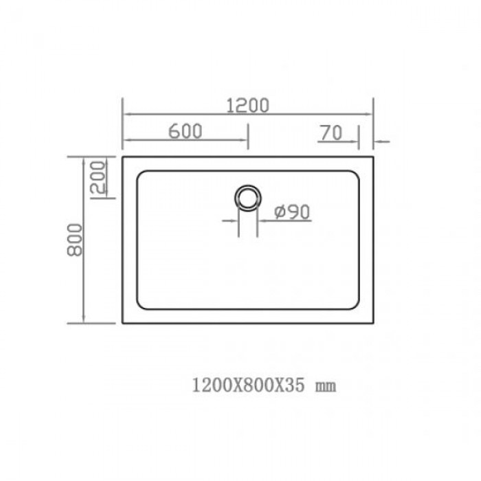 Душевой поддон EGER SMC 800Х1200 прямоугольный 599-1280S в интернет-магазине «Estet Room»