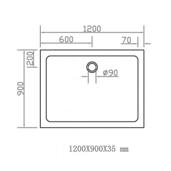 Душевой поддон EGER SMC 900Х1200 прямоугольный 599-1290S в интернет-магазине «Estet Room»