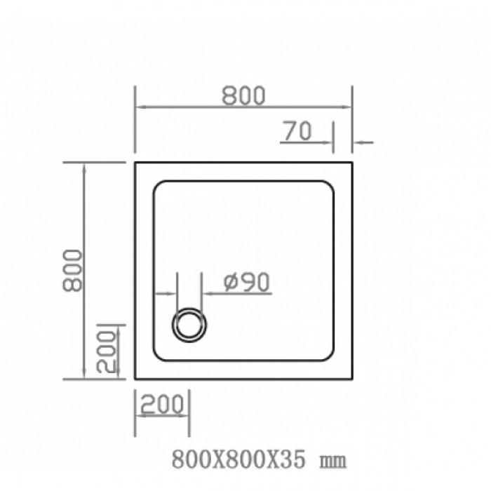 Душевой поддон EGER SMC 800Х800 квадратный 599-8080S в интернет-магазине «Estet Room»