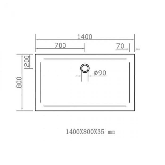 Душевой поддон EGER SMC 1400Х800 прямоугольный 599-1480S в интернет-магазине «Estet Room»