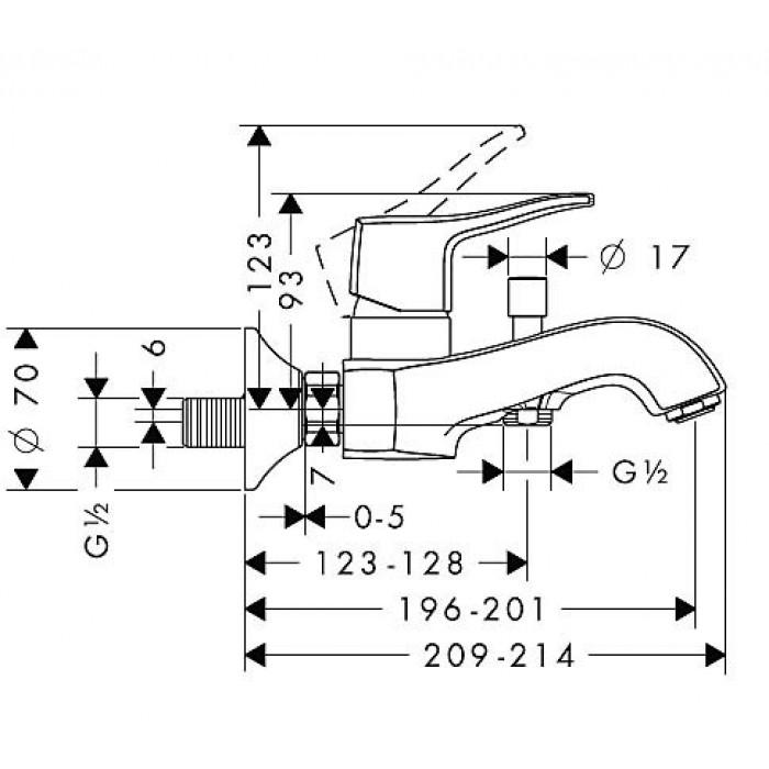 Смеситель для ванны Hansgrohe Metris Classic 31478000 в интернет-магазине «Estet Room»