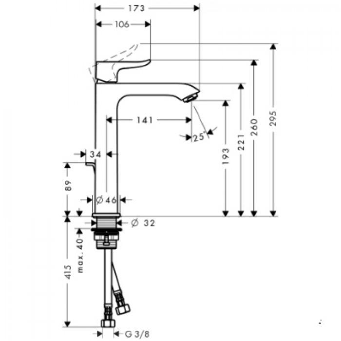 Смеситель для раковины Hansgrohe Metris 200 (31183000) в интернет-магазине «Estet Room»