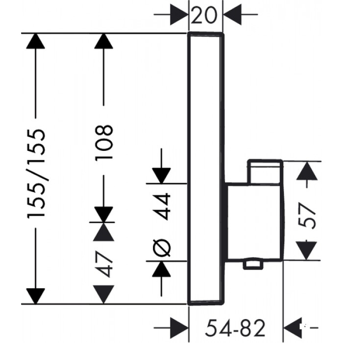 Термостат для душа Hansgrohe ShowerSelect 15763000 в интернет-магазине «Estet Room»