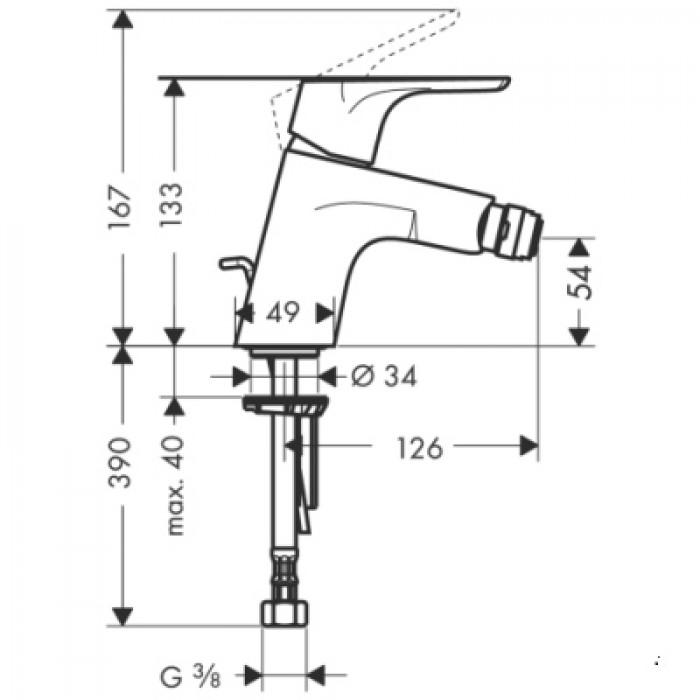 Смеситель для биде Hansgrohe Focus 31920000 в интернет-магазине «Estet Room»