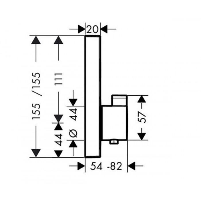 Термостат для душа Hansgrohe ShowerSelect S 15743000 в интернет-магазине «Estet Room»