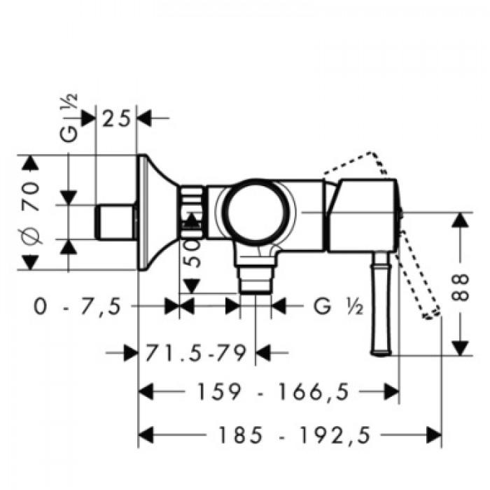 Смеситель для душа Hansgrohe Talis Classic 14161000 в интернет-магазине «Estet Room»