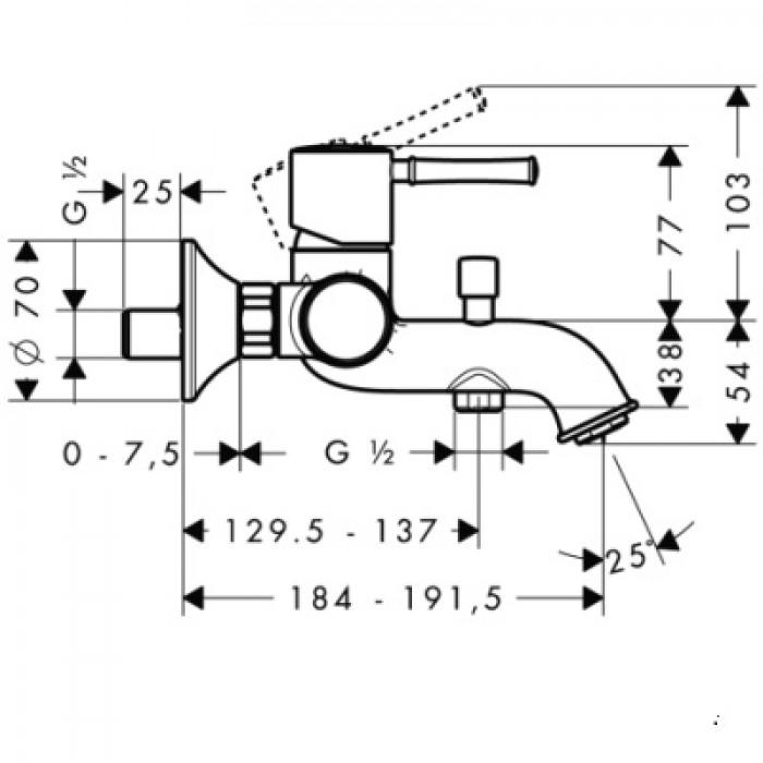 Смеситель для ванны Hansgrohe Talis Classic 14140000 в интернет-магазине «Estet Room»