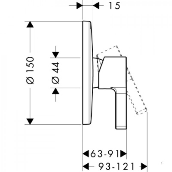 Смеситель для душа Hansgrohe Metris S 31665000 в интернет-магазине «Estet Room»