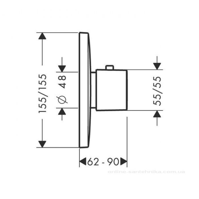 Термостат для душа Hansgrohe PuraVida Highflow 15772400 в интернет-магазине «Estet Room»
