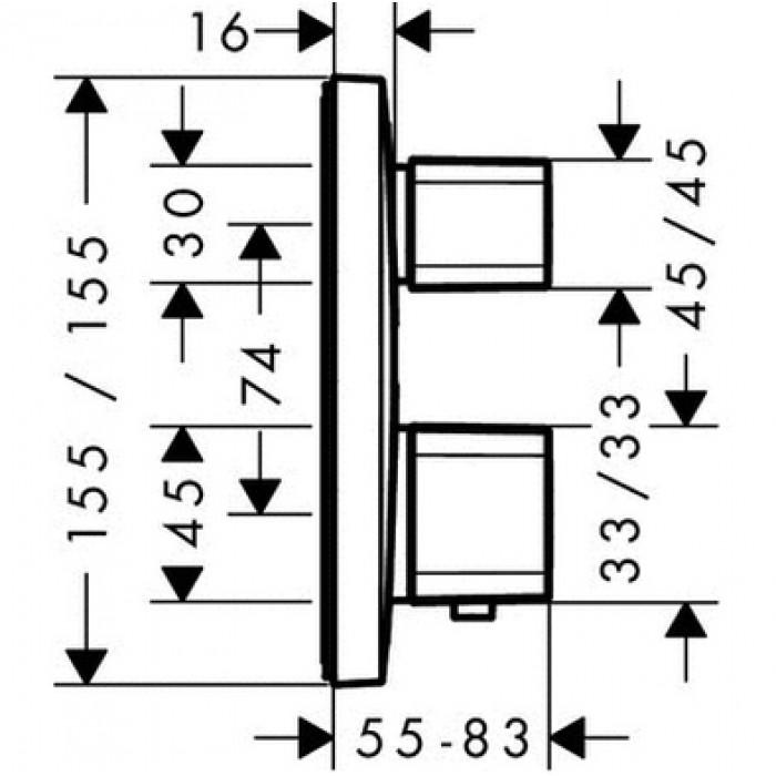 Термостат для душа Hansgrohe Ecostat E 15707000 в интернет-магазине «Estet Room»