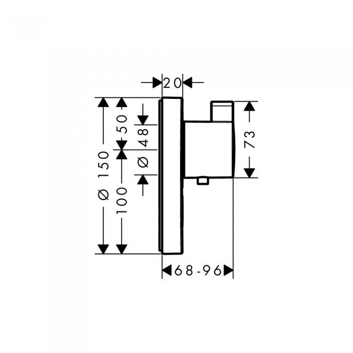 Термостат для душа Hansgrohe ShowerSelect S Highflow 15742000 в интернет-магазине «Estet Room»