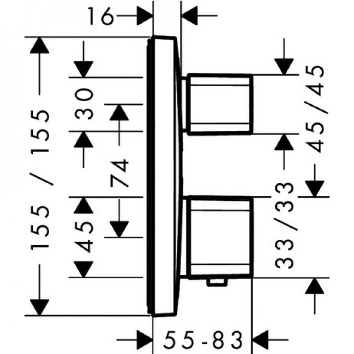 Термостат для душа Hansgrohe Ecostat E 15708000 в интернет-магазине «Estet Room»