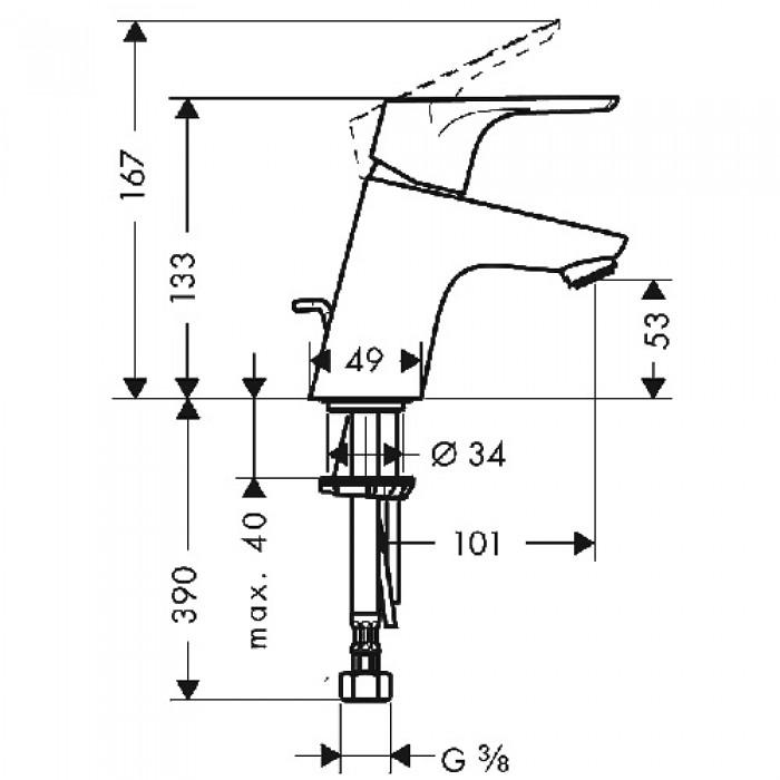 Смеситель для раковины Hansgrohe Focus 31730000 в интернет-магазине «Estet Room»