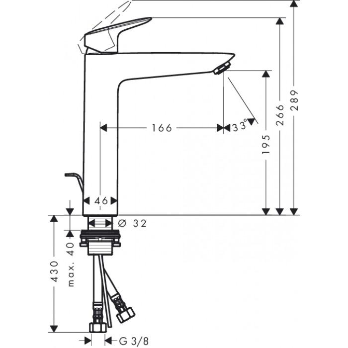 Смеситель для раковины Hansgrohe Logis 190 71090000 в интернет-магазине «Estet Room»