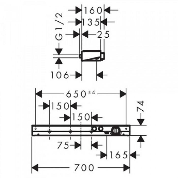 Термостат для душа Hansgrohe ShowerTablet Select 13184400 в интернет-магазине «Estet Room»