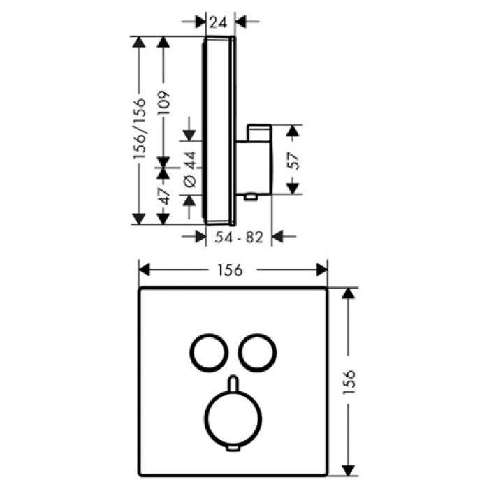 Термостат для душа Hansgrohe ShowerSelect 15738600 в интернет-магазине «Estet Room»