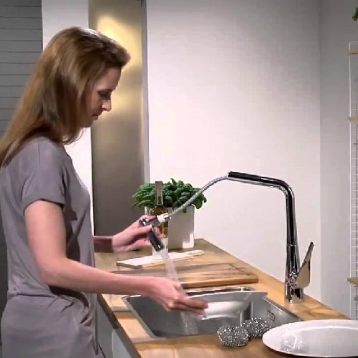 Смеситель для кухни Hansgrohe Metris 14820000 в интернет-магазине «Estet Room»