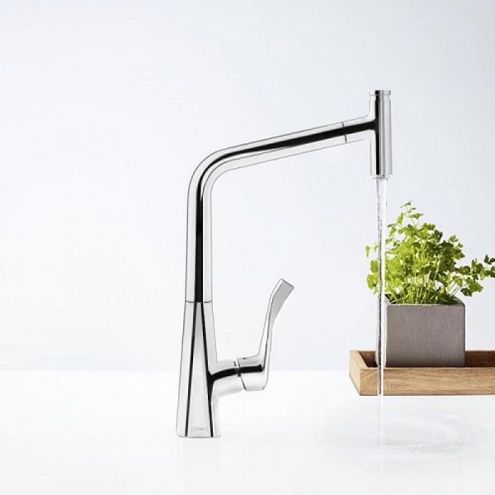 Смеситель для кухни Hansgrohe Metris Select 320 14884000 в интернет-магазине «Estet Room»