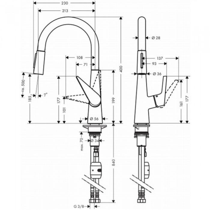 Смеситель для кухни Hansgrohe Talis S 72813800 в интернет-магазине «Estet Room»