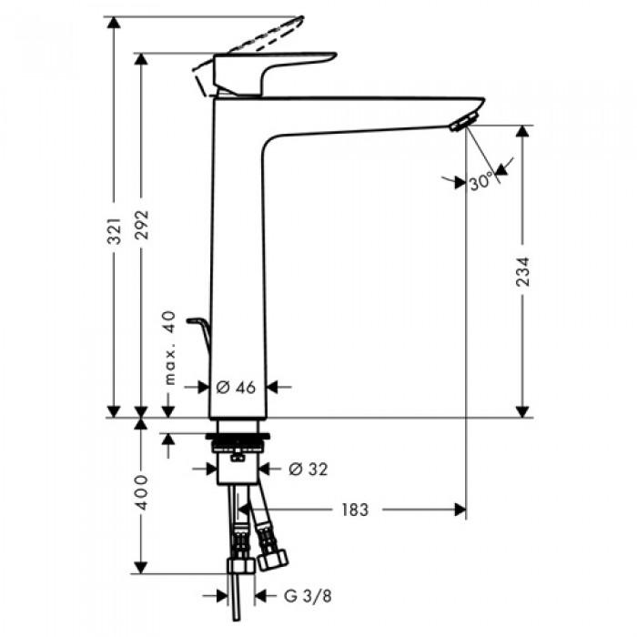 Смеситель для раковины Hansgrohe Talis E 240 (71716000) в интернет-магазине «Estet Room»