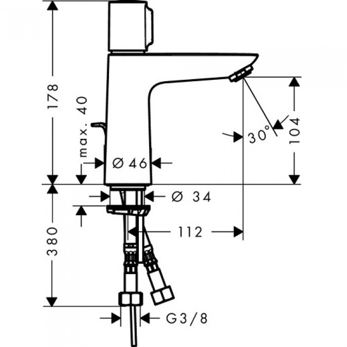 Смеситель для раковины Hansgrohe Talis Select E 71751000 без донного клапана в интернет-магазине «Estet Room»