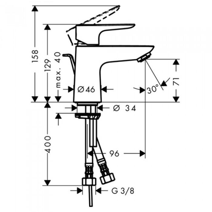 Смеситель для раковины Hansgrohe Talis E 80 (71700000) в интернет-магазине «Estet Room»