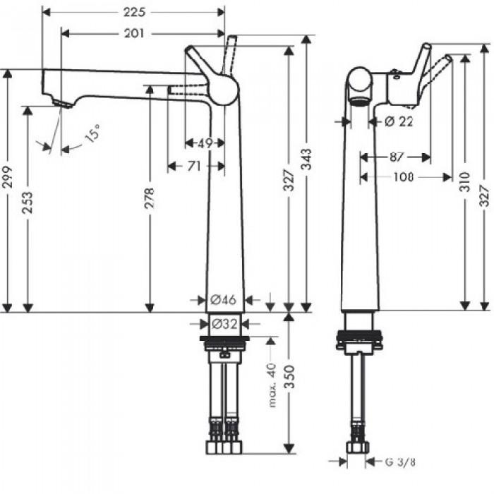 Смеситель для раковины Hansgrohe Talis S 250 (72115000) в интернет-магазине «Estet Room»