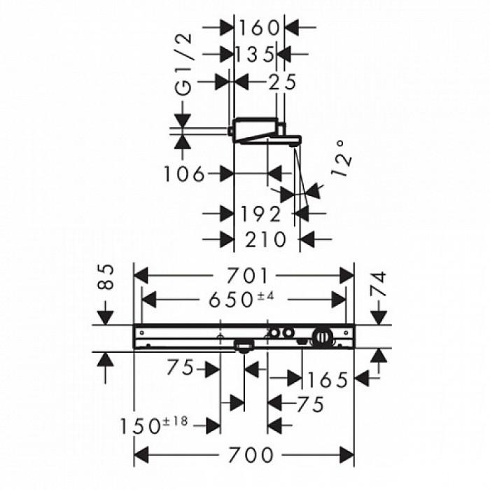 Термостат для ванны Hansgrohe ShowerTablet Select 700 (13183000) в интернет-магазине «Estet Room»