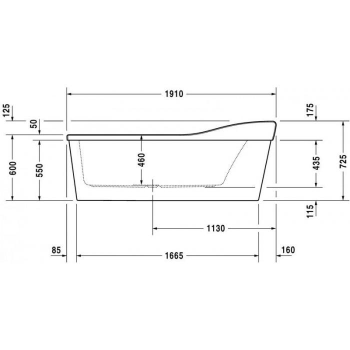 Esplanade ванна асимметричная 191 см 700284000000000 в интернет-магазине «Estet Room»