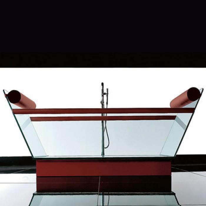 Gruppo Treesse Milo Ванна в стиле арт-деко 200x78xh90 см, стеклянная в интернет-магазине «Estet Room»