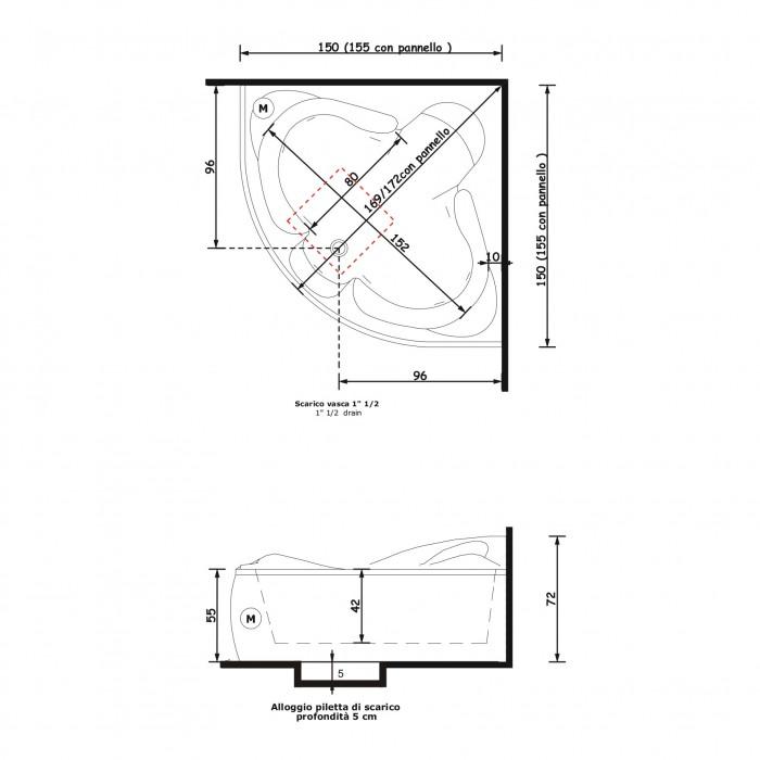 Gruppo Treesse Haiti Ванна 150x150xh72 см в интернет-магазине «Estet Room»