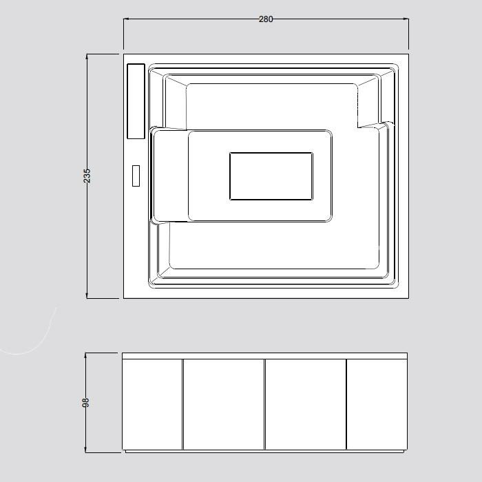 Gruppo Treesse Muse Минибассейн 280x235x98 см отдельностоящий в интернет-магазине «Estet Room»