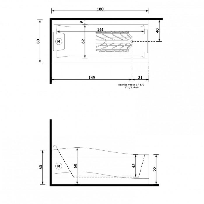 Gruppo Treesse Spider Ванна 180x80x68 см в интернет-магазине «Estet Room»