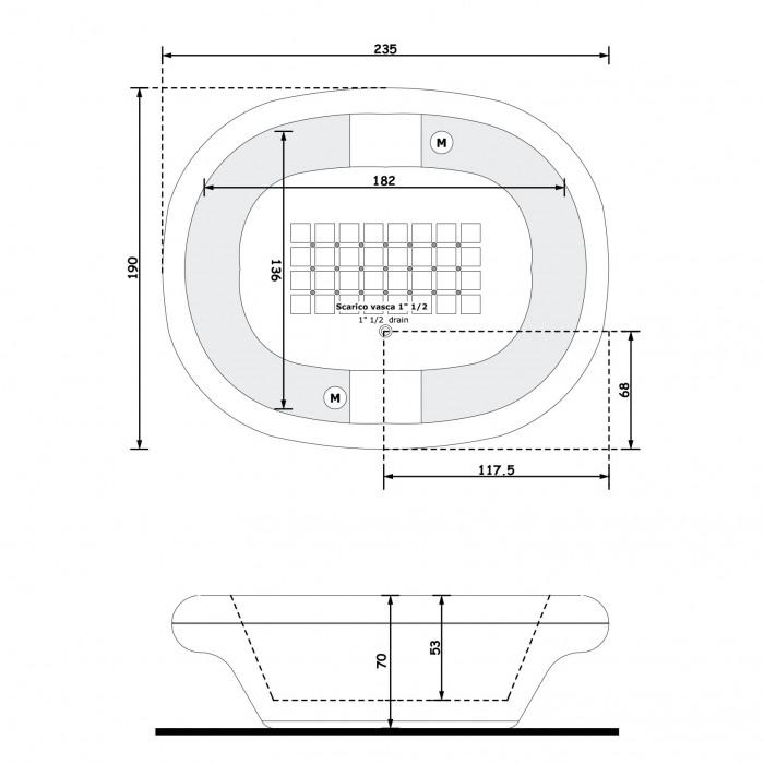 Gruppo Treesse Inside Ванна в современном стиле 192x135xh70 см в интернет-магазине «Estet Room»