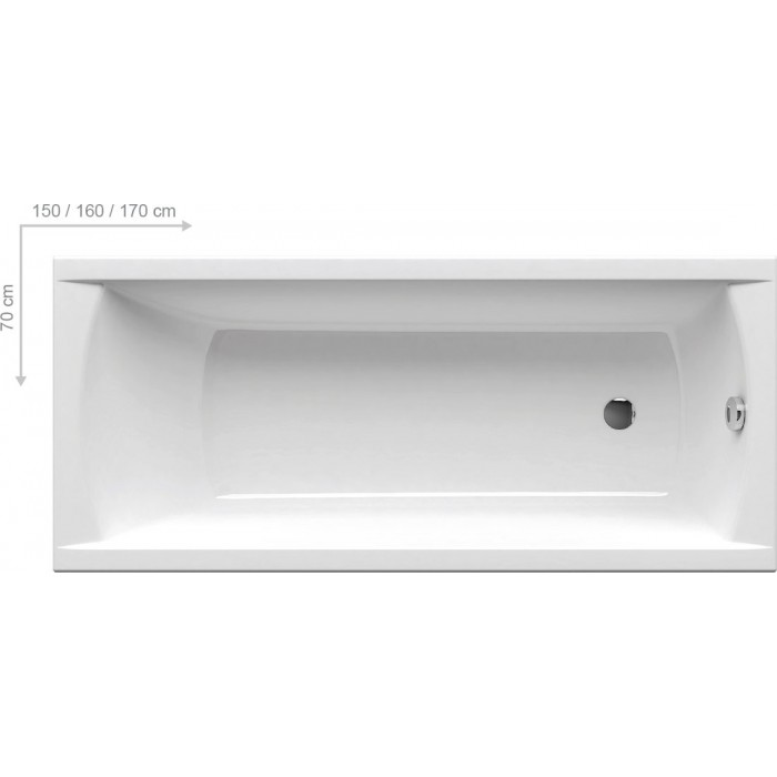 Ванна акриловая Ravak Classic 150x70 в интернет-магазине «Estet Room»