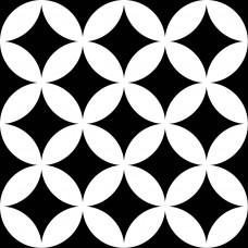 Керамогранит MAYOLICA DISTRICT CIRCLES BLACK 7×200×200
