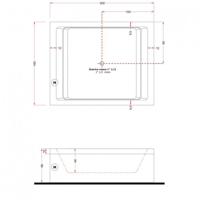 Gruppo Treesse Dream 200 Ванна в современном стиле 200x160xh66 см в интернет-магазине «Estet Room»