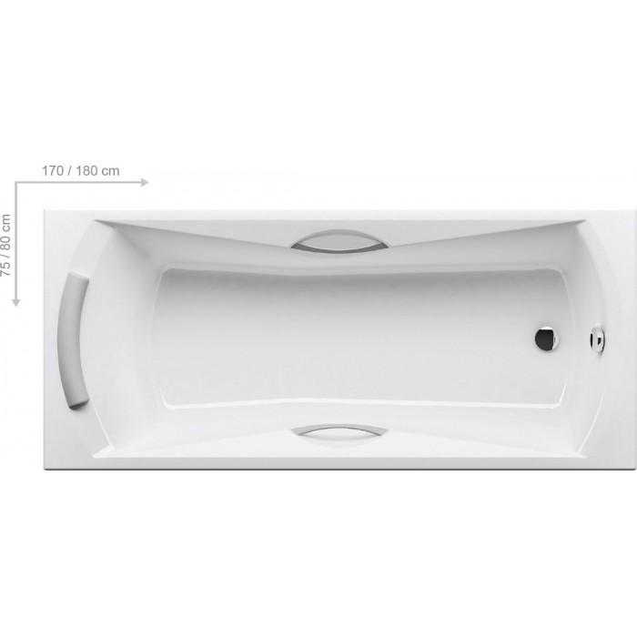 Ванна акриловая Ravak SONATA 180x80 в интернет-магазине «Estet Room»