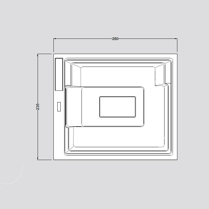 Gruppo Treesse Muse Минибассейн 280x235x98 см встраиваемый в интернет-магазине «Estet Room»