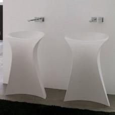 Каменная раковина 57 см Artceram Miss, white (OSL012 01; 00)