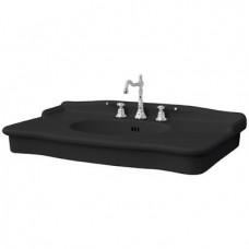 Керамическая раковина 112 см Artceram Hermitage, black glossy (HEL004 03; 00)