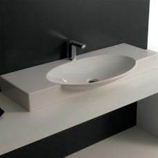 Керамическая раковина 105 см Artceram Swing, white glossy (SWL002 01; 00)