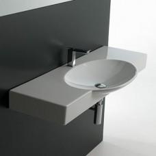 Керамическая раковина 120 см Artceram Swing, white glossy (SWL003 01; 00)