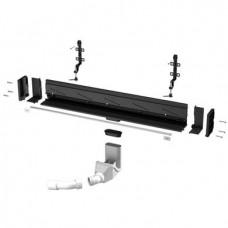 Душевой трап Viega Advantix Vario Wall Drain 30-120 см, низкий сифон, с накладкой SR2 (736736+736576)