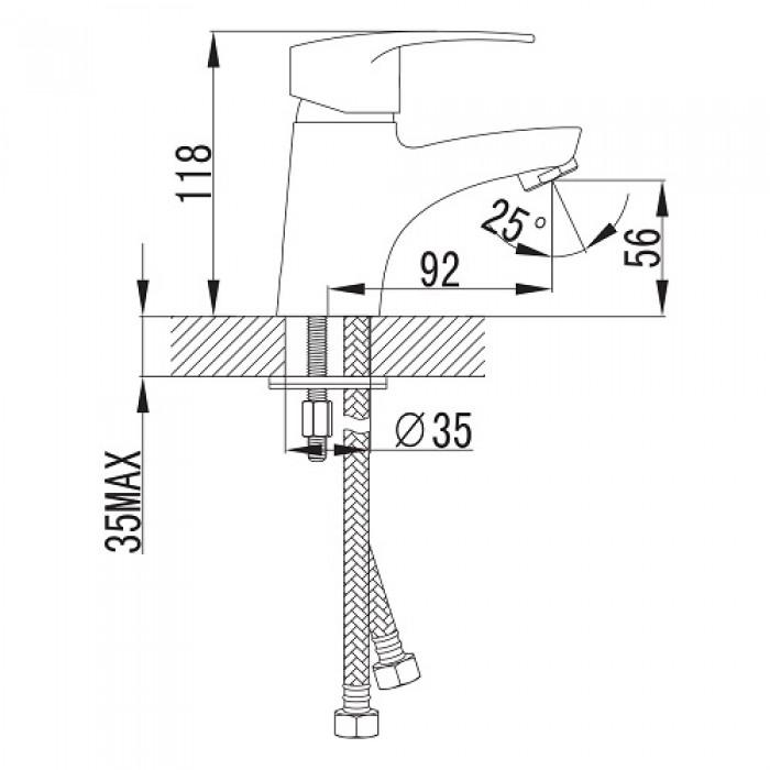 Смеситель для раковины Imprese Lidice 05095 в интернет-магазине «Estet Room»