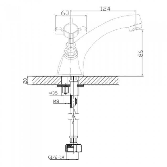 Смеситель для раковины Imprese Cuthna 05280 stribro в интернет-магазине «Estet Room»