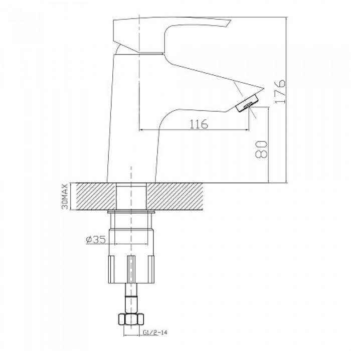 Смеситель для раковины Imprese Horak 05170 в интернет-магазине «Estet Room»