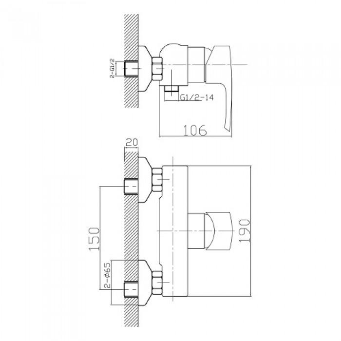 Смеситель для душа Imprese Horak 15170 в интернет-магазине «Estet Room»