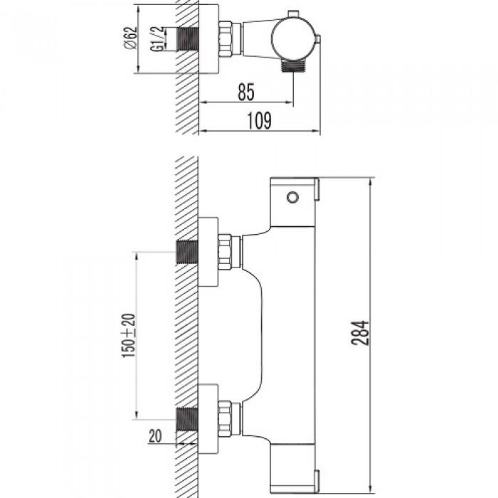 Термостат для душа Imprese Centrum 15400 в интернет-магазине «Estet Room»