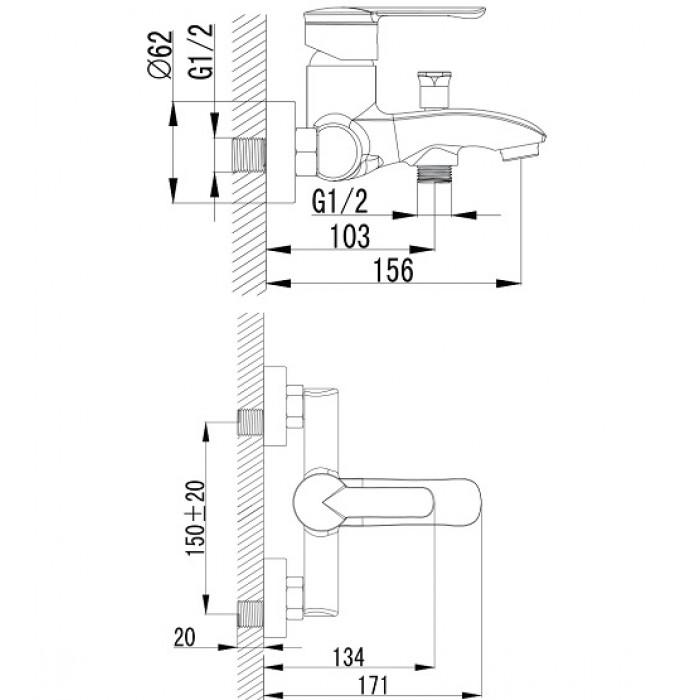 Смеситель для ванны Imprese Mze 10130 в интернет-магазине «Estet Room»